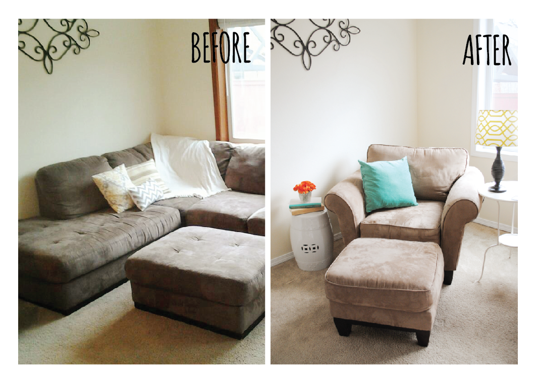 Living room makeover before and after itsy belleitsy belle for Living room makeover