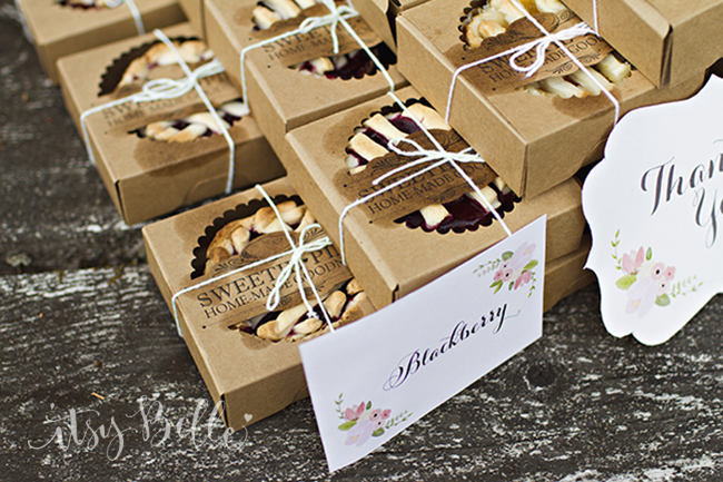 MIni Pies Wedding Favors