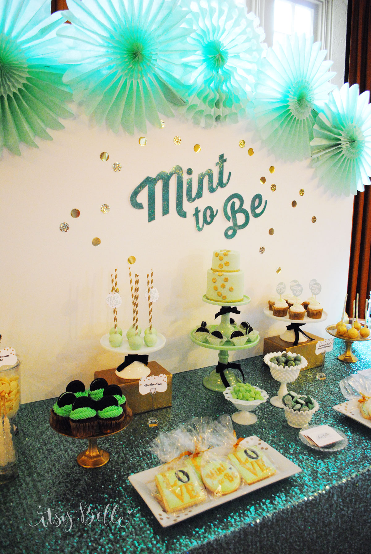 mint bridal shower