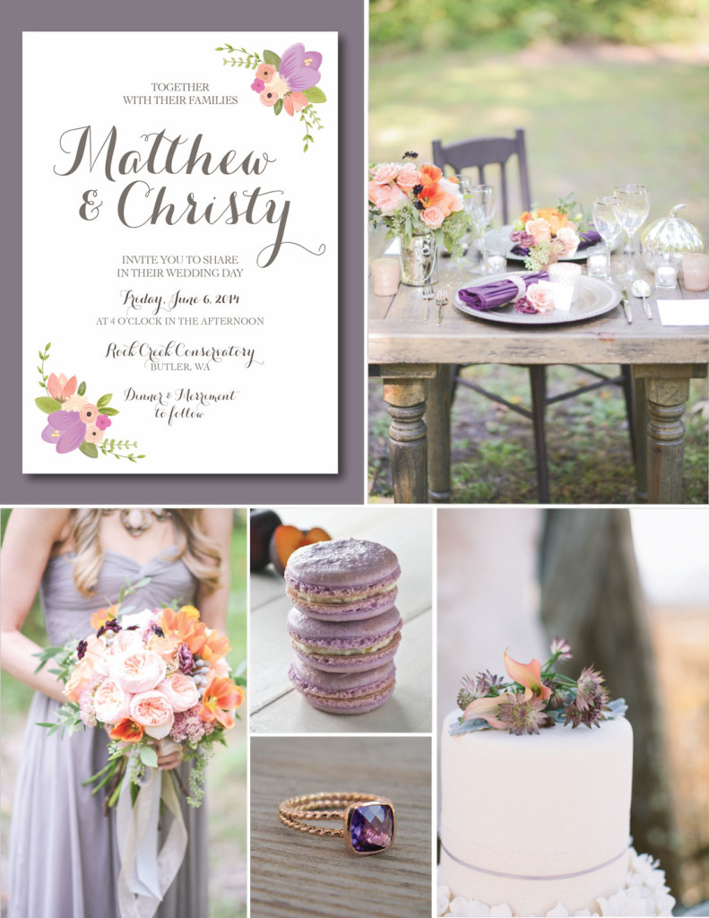 Peach&PlumInspirationBaord Wedding Inspiratio