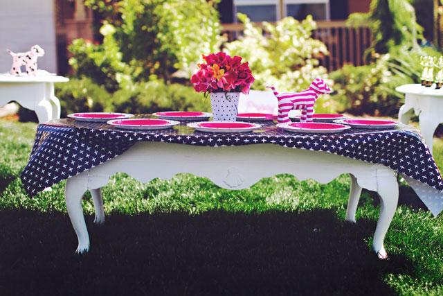 Pink Black White Dog Party