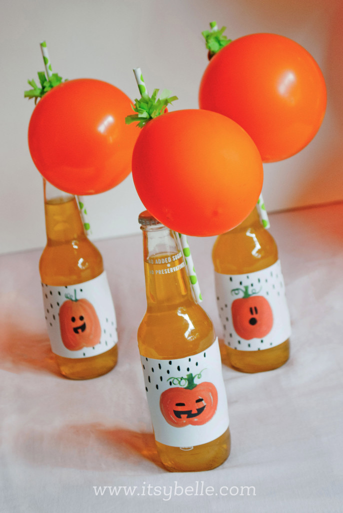 DIY Halloween Pumpkin Straws by Itsy Belle Studio