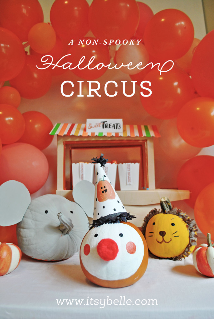 Non-spooky Halloween Circus Party Ideas by Itsy Belle Studio