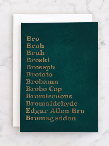 Bro mens funny birthday greeting card by itsy belle Studio for Minted
