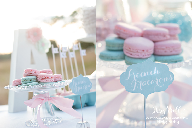 Little Lamb Dessert Table by Itsy Belle French Macarons