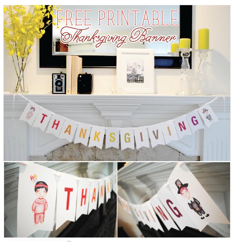 FREEBIE Printable Thanksgiving Banner