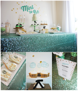 Mint to Be Bridal Shower Dessert Table