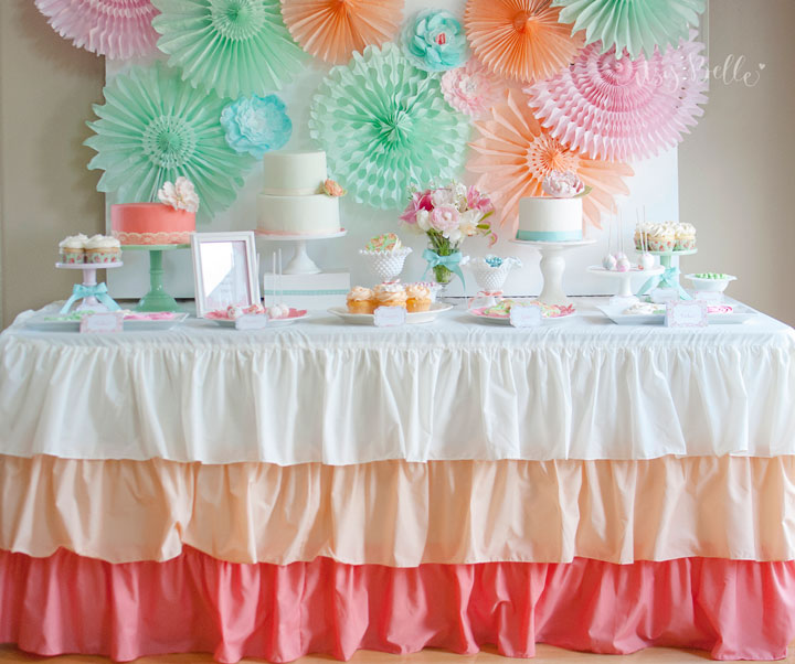 Ombre Ruffle Tablecloth