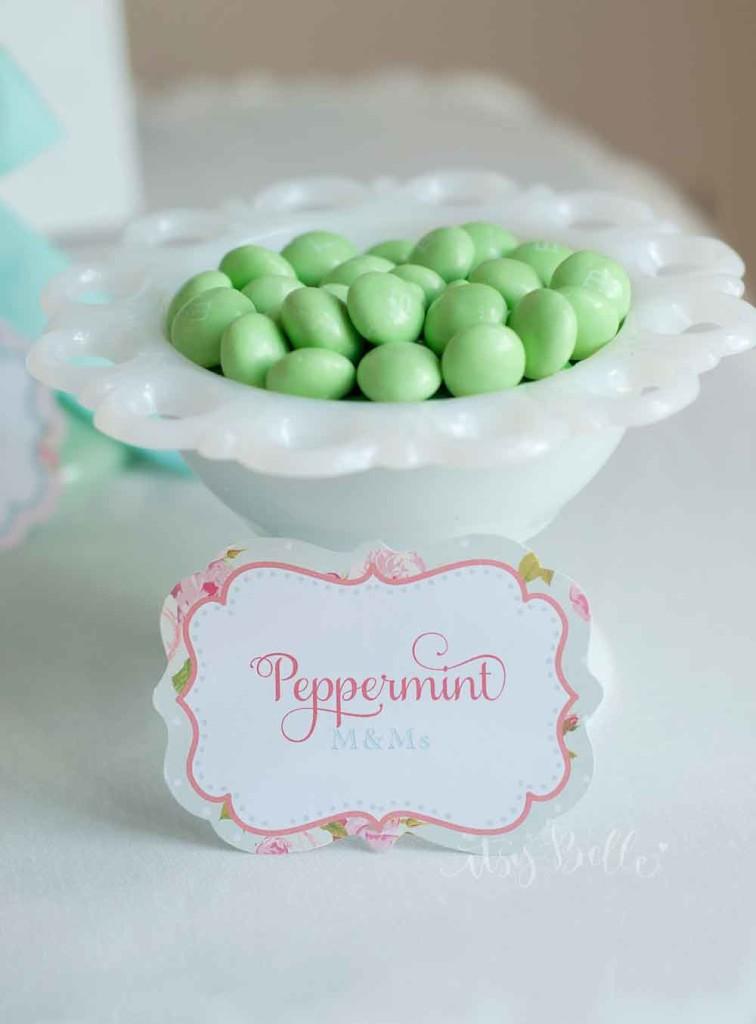 Mint Dessert Table