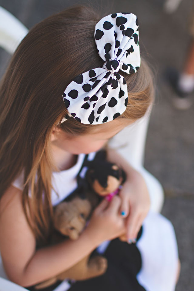 Puppy party Hair  Bow Gymboree