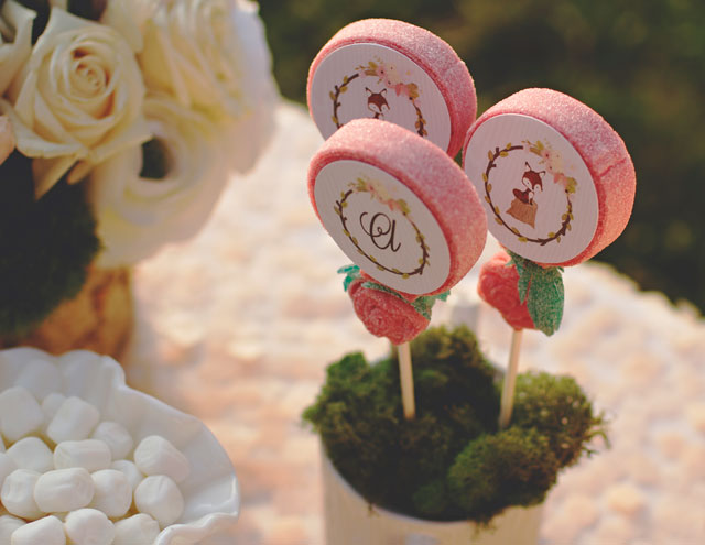 Rustic Floral Candy Kabobs