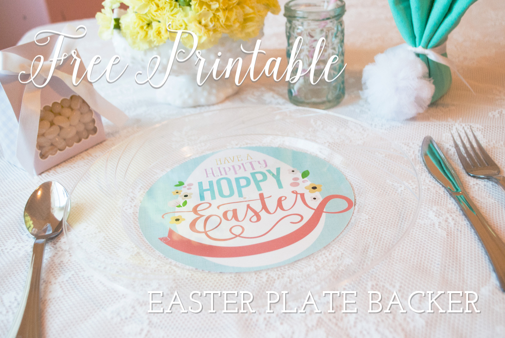 Easter Kid's Table Free Printable