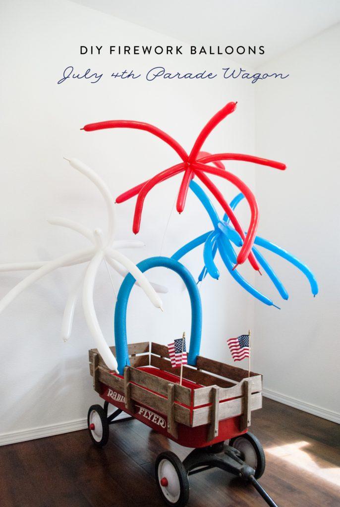 Baby You're A Firework! DIY Firework Balloons Parade Wagon